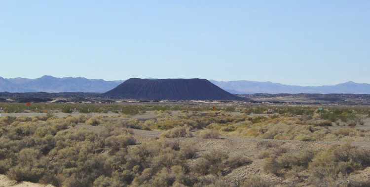 A closer view of Amboy Crater