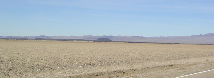 Amboy crater in the distance