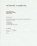 Crichton letter