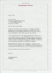 Christopher Reeve Letter