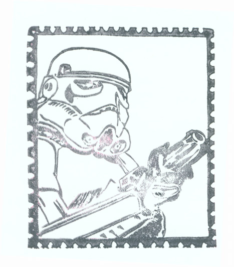 stormtrooper in a stamp