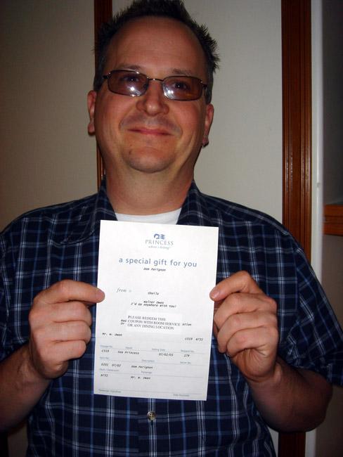 Dom Perignon certificate