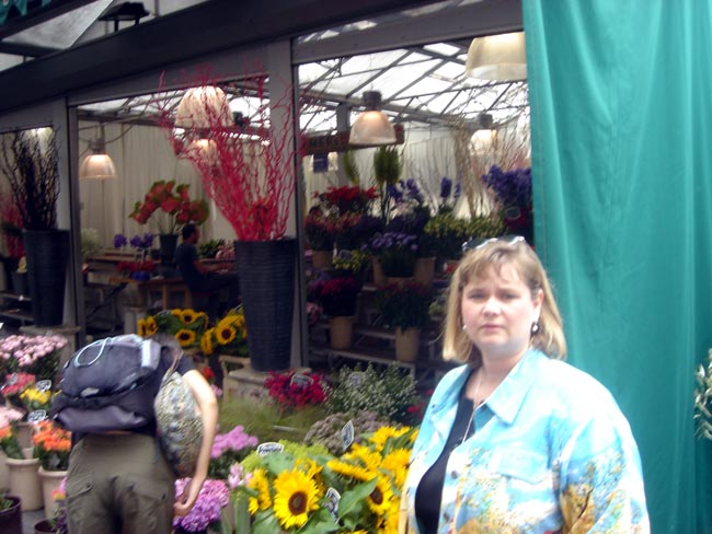 Sheila at the blooms market