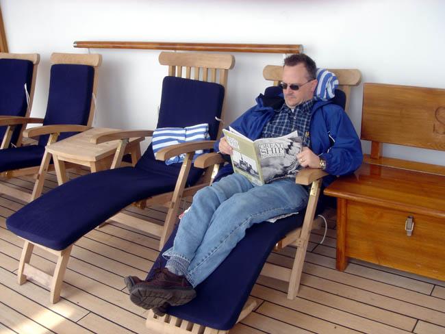 me, reading