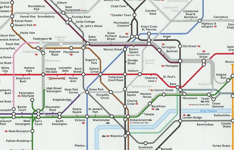 London tube map after bombings