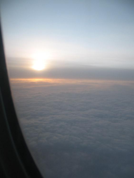 Sunrise at 40,000 feet