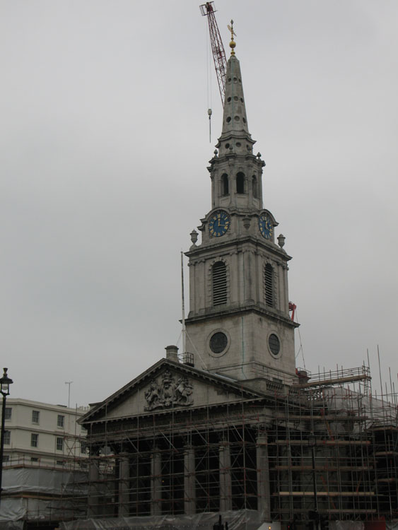 Saint Martin's from Trafalgar Square