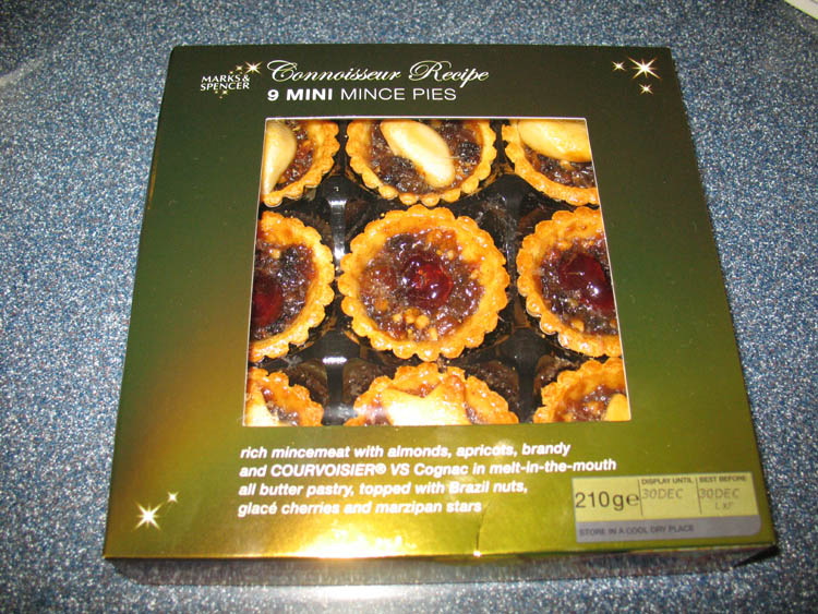Marks and Spencer mince pies!