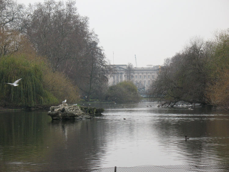 Across the lake in st. James park