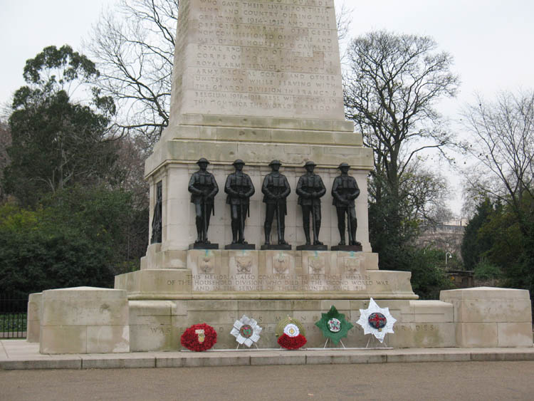 The war Memorial behind the Admiralty