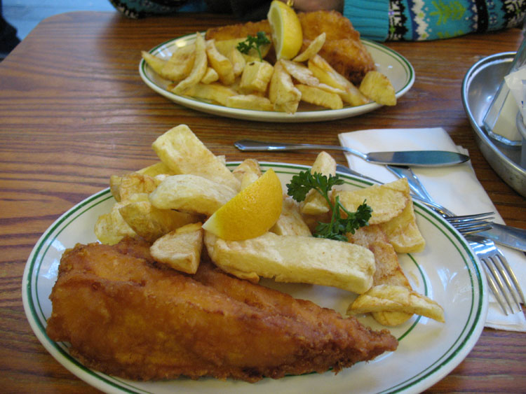 Nummy fish and chips!